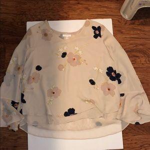 Flow sleeve floral Blouse